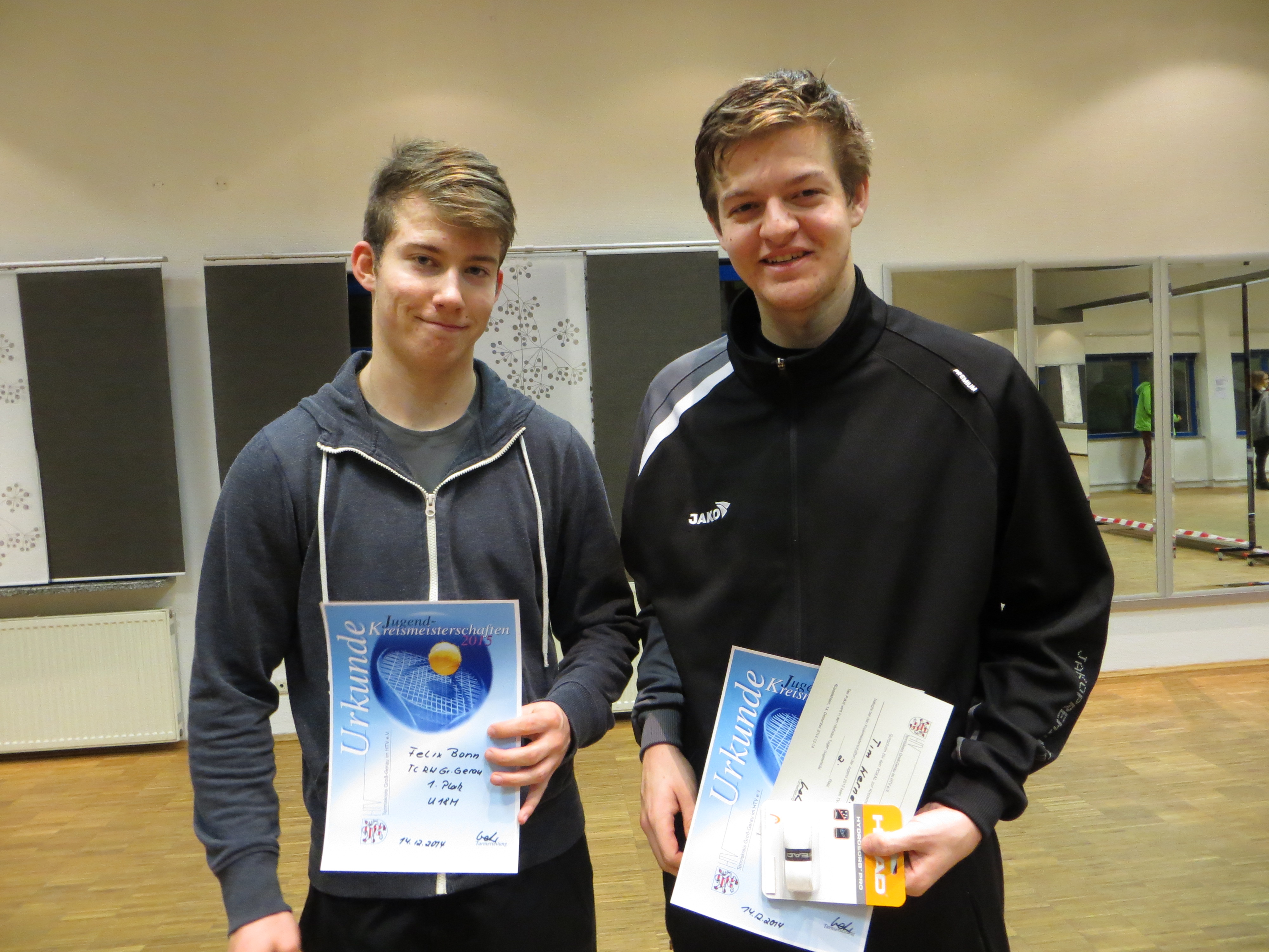 Finalisten Kreismeisterschaft U18